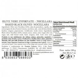 Baked black Nocellara Olives - Cutrera - 190gr