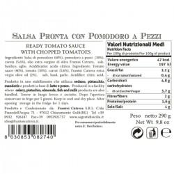 Semi dried cherry tomato sauce - Cutrera - 290gr