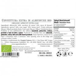 Apricot Extra Jam organic - Cutrera - 225gr