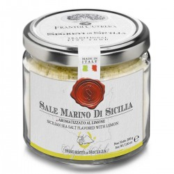 Sicilian Sea Salt flavored with Lemon - Cutrera - 200gr