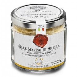 Sicilian Sea Salt flavored with Tangerine - Cutrera - 200gr