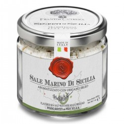 Sicilian Sea Salt flavored with Oregano - Cutrera - 200gr