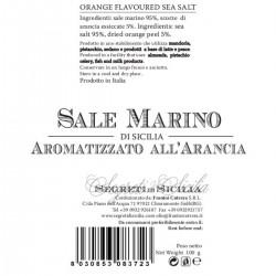 Sicilian Sea Salt flavored with Orange Grinder - Cutrera - 100gr
