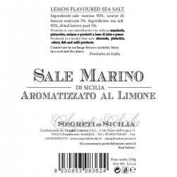 Sicilian Sea Salt flavored with Lemon Grinder - Cutrera - 100gr