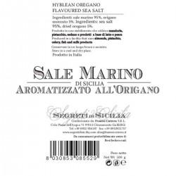 Sicilian Sea Salt flavored with Oregano Grinder - Cutrera - 100gr