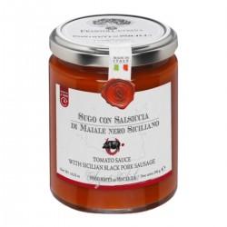 Tomato Sauce with Sicilian Black Pork Sausage - Cutrera - 290gr