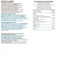 Orange and Manna Biscuits - Tumminello - 210gr