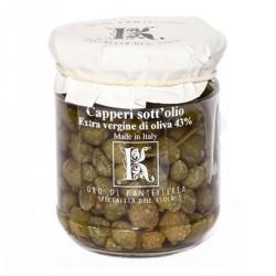 Capers in extra virgin olive oil - Oro di Pantelleria Kazzen - 90gr