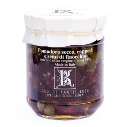 Sun dried tomatoes and capers in oil - Oro di Pantelleria Kazzen - 85gr
