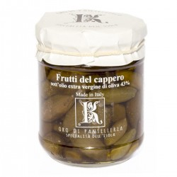 Fruits of caper in extra virgin olive oil - Oro di Pantelleria Kazzen - 175gr