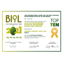 Extra Virgin Olive Oil organic Costa del Riparo - Viola - 500ml