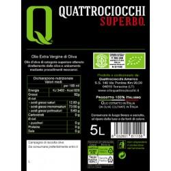 Extra Virgin Olive Oil Superbo Moraiolo Organic can - Quattrociocchi - 5l