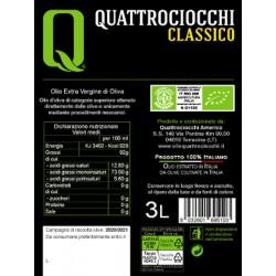 Extra Virgin Olive Oil Classico Organic can - Quattrociocchi - 3l