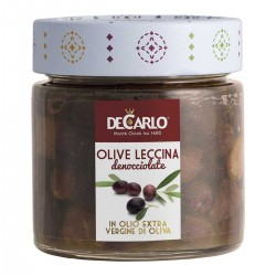 Leccina pitted Olives - De Carlo - 180gr
