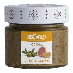 Green Olives and Citrus Fruits Spread - De Carlo - 130gr