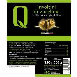 Zucchini rolls in extra virgin olive oil - Quattrociocchi - 320gr