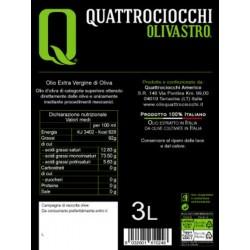 Extra Virgin Olive Oil Olivastro can - Quattrociocchi - 3l