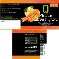 Oranges, carrots and lemons Jam - Quattrociocchi - 350gr
