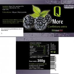 Blackberries jam - Quattrociocchi - 350gr