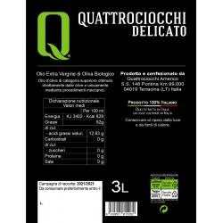 Extra Virgin Olive Oil Delicato Leccino can - Quattrociocchi - 3l