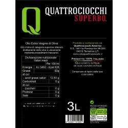 Extra Virgin Olive Oil Superbo Moraiolo can - Quattrociocchi - 3l