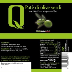 Green Olive Patè - Quattrociocchi - 190gr