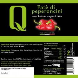 Chillies Patè - Quattrociocchi - 190gr